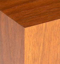red walnut finish